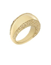 Swarovski Pebble Goldtone And Crystal Ring