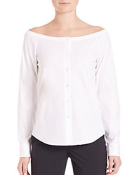 Theory Auriana Luxe Blouse White
