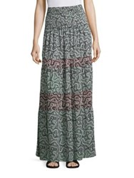 A.L.C. Suarez Silk Skirt Mint Multi