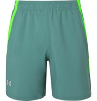 Under Armour Launch Mesh Panelled Shell Shorts Green