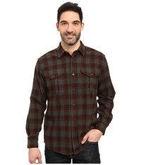 Filson Northwest Wool Shirt Brown Dark Loden Rust Men's Clothing Brown Dark Loden Rust