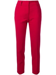 Piazza Sempione Cropped Mid Rise Trousers Red