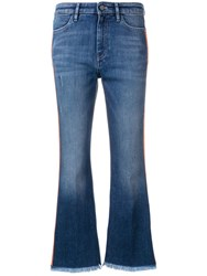 Pt05 Cropped Flared Jeans Blue