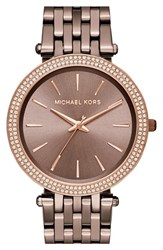 Michael Michael Kors Women's 'Darci' Round Bracelet Watch 39Mm Sable