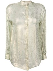 Forte Forte Long Sleeved Blouse Gold