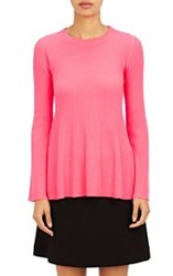 Lisa Perry Flared Sweater Pink