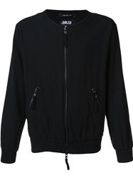 Publish Collarless Bomber Jacket Black
