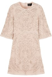 Needle And Thread Fleur Embellished Chiffon Mini Dress Pastel Pink