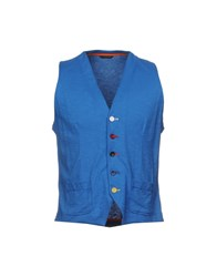 Daniele Alessandrini Grey Vests Blue