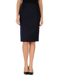 Blue Les Copains Skirts Knee Length Skirts Women Dark Blue