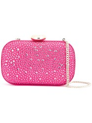 Love Moschino Embellished Clutch Pink Purple