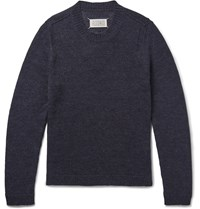 Maison Martin Margiela Wool And Alpaca Blend Sweater Blue