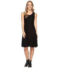 Stetson Lace Fit And Flare Dress Black Women's Dress