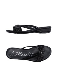 Andrea Morelli Toe Strap Sandals Black