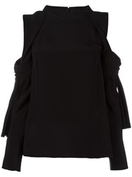 3.1 Phillip Lim Cold Shoulder Blouse Black