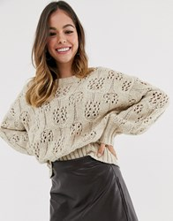 Moon River Beige Fine Knitted Jumper