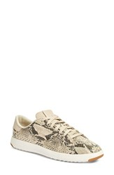 Cole Haan Women's 'Grandpro' Tennis Sneaker Roccia Snake Print Leather