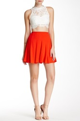 Bishop Young Solid Skater Skirt Red