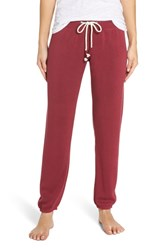 Make Model Dreamy Fleece Jogger Pants Burgundy Rhode