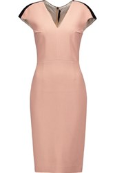Roland Mouret Pickwick Woven Cotton Blend Dress Antique Rose