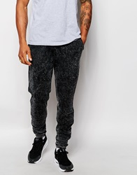 Asos Skinny Joggers In Acid Wash Biker Style Grey