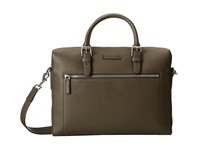 Michael Kors Bryant Large Front Zip Briefcase Army Briefcase Bags Green