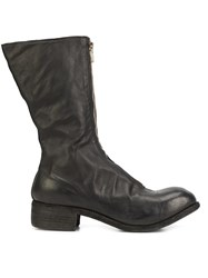 Guidi Stacked Heel Boots Black