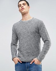 Solid Sweatshirt In Marl Black