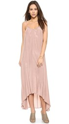 One By Pink Stitch Resort Maxi Dress Taupe