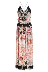 Roberto Cavalli Printed Silk Dress Multicolored