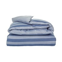 Gant Rig Stripe Duvet Cover Mid Blue Double