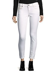 7 For All Mankind Casey Skinny Jeans Optic White