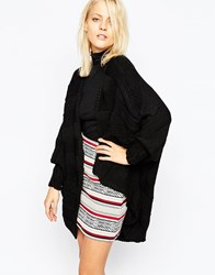 Ax Paris Oversized Cardigan Black