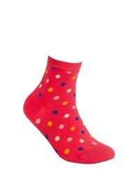Happy Socks Dotted Ankle Bright Pink