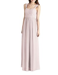Donna Morgan Chiffon Sweetheart Gown Palest Pink