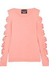 Boutique Moschino Cutout Bow Detailed Knitted Sweater Pink
