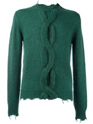 Etro Braided Detail Jumper Green