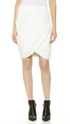 Line Ii Dion Lee Draped Pleat Skirt White