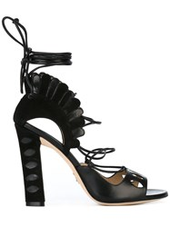 Paula Cademartori Lotus Sandals Black