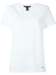 Marc By Marc Jacobs Scoop Neck T Shirt White