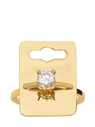 Maria Francesca Pepe The Bling Ring' Tag Ring Gold
