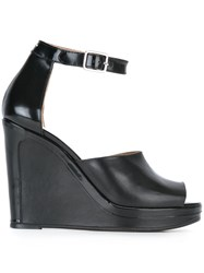 Maison Martin Margiela Ankle Strap Wedge Sandals Black