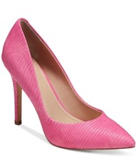 Charles By Charles David Pact Leather Pumps Women's Shoes Deep Pink