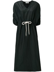 Pringle Of Scotland Drawstring Fitted Dress Black