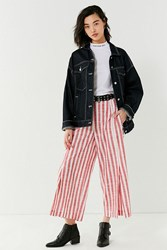 Urban Outfitters Uo Penny Striped Wide Leg Pant Red