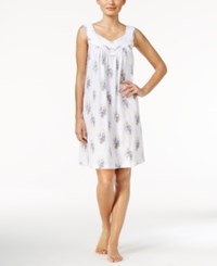 Charter Club Lace Trimmed Printed Nightgown Only At Macy's Spring Bouquets