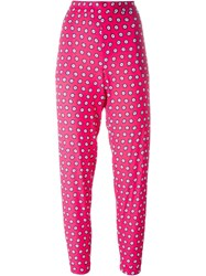 P.A.R.O.S.H. Geometric Print Trousers Pink And Purple