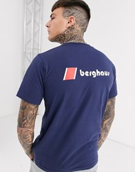 Berghaus Heritage Front And Back Logo T Shirt In Navy Black