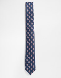 Selected Homme Paisley Tie Blue