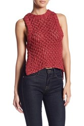 For Love And Lemons Mulberry Handknit Tank Red